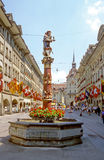 Bern. One of the main streets of Bern, capital of Switzerland Royalty Free Stock Images