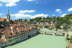 Bern. The river Aare flowing through Bern, Switzerland royalty free stock image