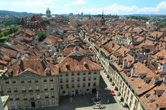 Bern. The roofs of historic buildings in Bern, Switzerland royalty free stock photos