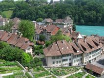 Bern. Aerial view of Old Town of Bern, capital city of Switzerland royalty free stock images