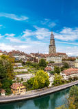 Bern and Berner Munster cathedral Royalty Free Stock Image