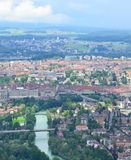 Bern bird eye view, Switzerland. Royalty Free Stock Photography
