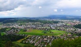 Bern bird eye view, Switzerland. Royalty Free Stock Images