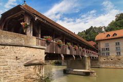 Bern Bridge in Fribourg Stock Photos