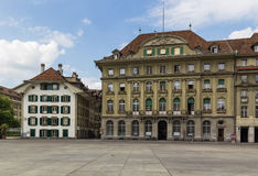 Bern. Buildings on Bundesplatz square in Old City of Bern, Switzerland stock image