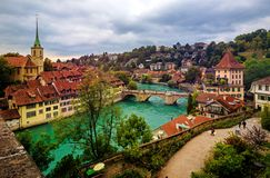 Bern historical Old Town, capital city of Switzerland royalty free stock photography
