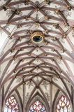 Bern Cathedral inside. Ceilings in Bern. Cathedral royalty free stock photo