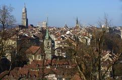 Bern centrum w ranku Zdjęcie Royalty Free