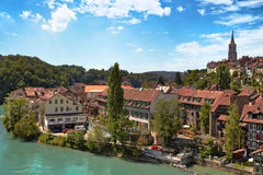 Bern city. In Switzerland. View from river royalty free stock photos