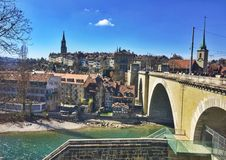 Bern City Landscape Foto de Stock Royalty Free