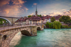 Bern. Cityscape image of Bern, Switzerland during sunset stock photos