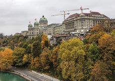 Bern cityscape on an overcast day in autumn Stock Image