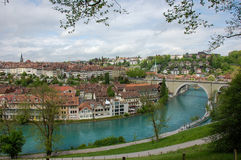 Bern cityscape with river Aare Royalty Free Stock Photo