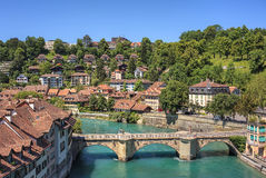 Bern cityscape in summer stock photos