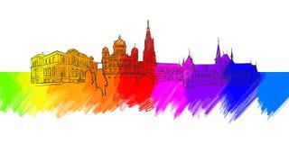Bern Colorful Landmark Banner royalty illustrazione gratis