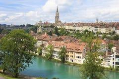 Bern, de hoofdstad van Zwitserland. Stock Foto's