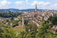 Bern, de hoofdstad van Zwitserland. Royalty-vrije Stock Foto