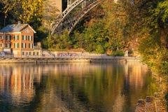 Bern, der Aare-Fluss Lizenzfreies Stockbild