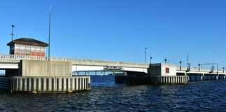 Bern Draw Bridge novo, North Carolina, EUA imagens de stock royalty free