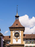 Bern Gate in Murten, Switzerland Stock Image