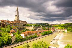 Bern Historic City Center In Schweiz Royaltyfri Foto