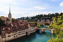 Bern, hoofdstad van Zwitserland, de Plaats van de Werelderfenis Stock Fotografie
