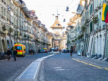 Bern Kramgasse city street Royalty Free Stock Image