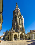 Bern Minster - Cathedral of Bern in Switzerland Stock Images