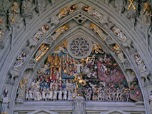 Bern Minster portal: Last Judgement Royalty Free Stock Photo