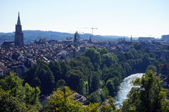 Bern och Aare Royaltyfri Fotografi
