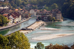 Bern old town, river and bridges, Switzerland Stock Image