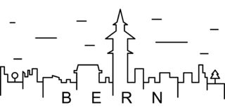 Bern outline icon. Can be used for web, logo, mobile app, UI, UX vector illustration