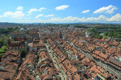 Bern panorama. The roofs in Bern seen from Munster, Switzerland royalty free stock photos