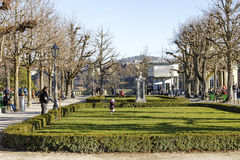 Bern, park at the Muenster platform Royalty Free Stock Photography
