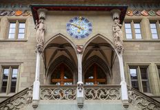 Bern Rathaus Вход к ратуше Стоковое фото RF