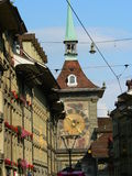 Bern ( Schweiz ). Old town street in Bern, Switzerland Stock Photo