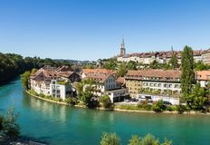 Bern Schweiz huvudstad Royaltyfri Fotografi