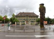 Bern Schweiz - Juni 04, 2017: Distrikts-polisheadquarten arkivfoto