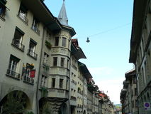 Bern ( Schweiz ). Old town street in Bern, Switzerland Stock Image