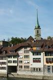 Bern skyline, Switzerland. View on houses of Bern, capital of Switzerland royalty free stock image