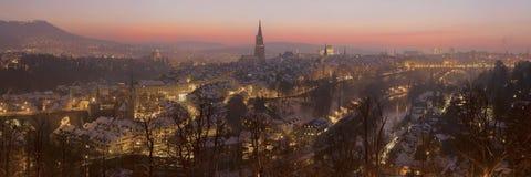Bern at sunset. stock image