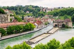 Bern, Switzerland. River Aare and old city of Bern. Switzerland stock image