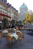Bern, Switzerland. Cafe in Bern city, Switzerland stock image