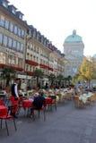 Bern, Switzerland. Cafe in Bern city, Switzerland royalty free stock photo
