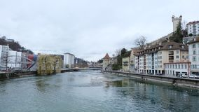 Bern, Switzerland. Bern, the capital city of Switzerland, is built around a crook in the Aare River. It traces its origins back to the 12th century, with Royalty Free Stock Images