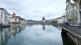 Bern, Switzerland. Bern, the capital city of Switzerland, is built around a crook in the Aare River. It traces its origins back to the 12th century, with Royalty Free Stock Photos