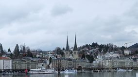 Bern, Switzerland. Bern, the capital city of Switzerland, is built around a crook in the Aare River. It traces its origins back to the 12th century, with Stock Image