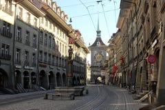 Bern, Switzerland. Bern city Kramgasse main street, Switzerland royalty free stock photo