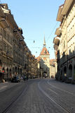 Bern, Switzerland. Bern city Kramgasse main street, Switzerland stock image