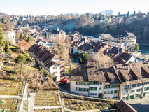 Bern, Switzerland. City of Bern, Switzerland seen from above Stock Photo